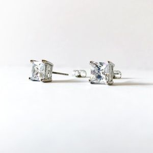 7mm Square Bling CZ Studs